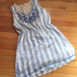 Cutest MP Summer dress. Blue/white striped lace